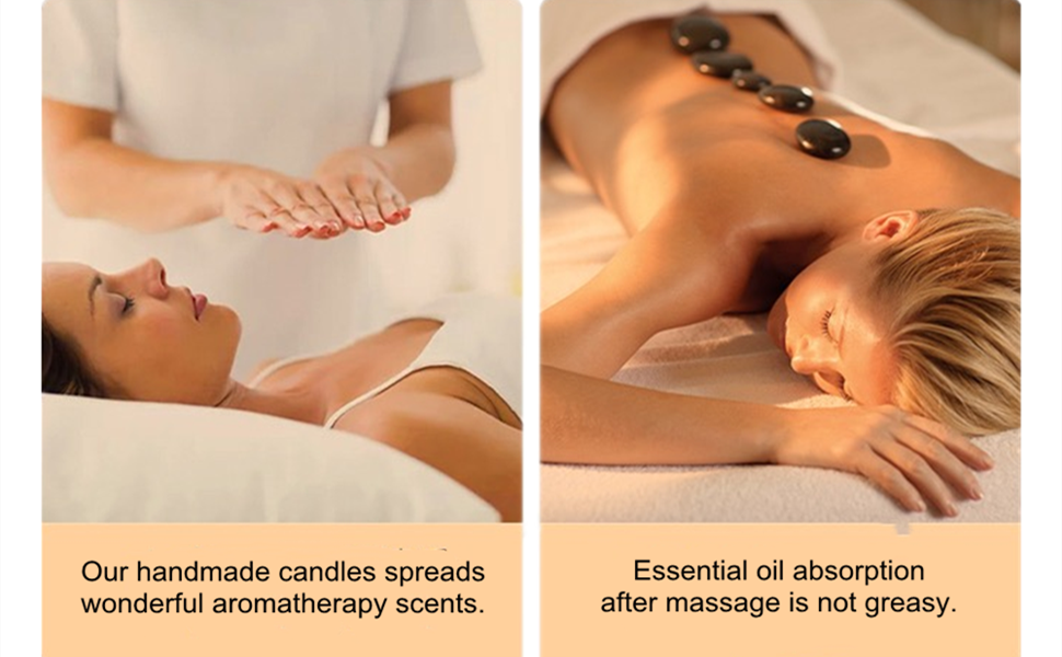 Essential oil absorption after massage is not greasy.