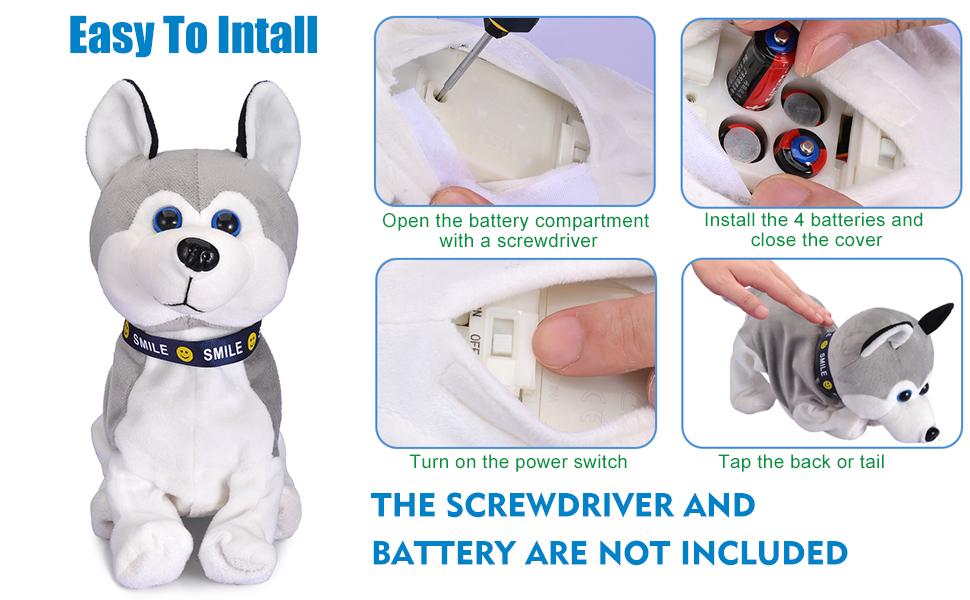 Touch Control Plush Stuffed Animal Dog Toy