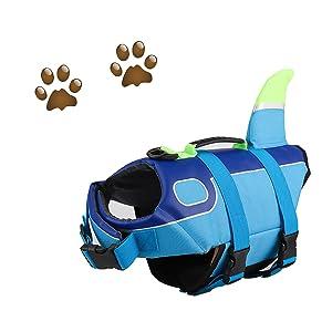 Adjustable Shark Life Jacket for Dogs