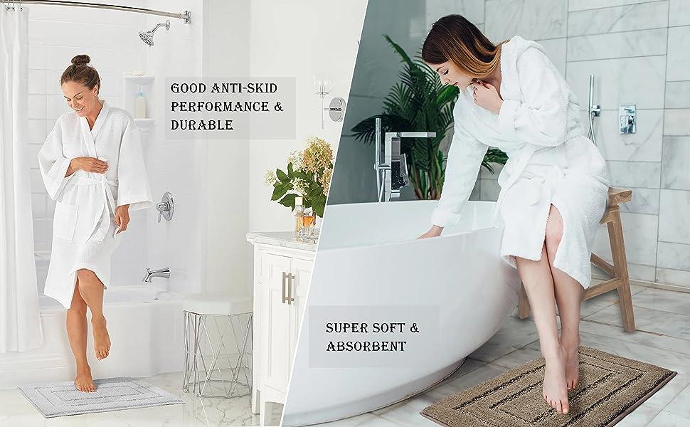 Bathroom Rug Mat Non Slip Bath Mat Machine Washable Dry Comfortable Floor Carpet