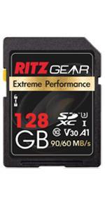 ritz gear extreme performance 128gb sdxc memory card