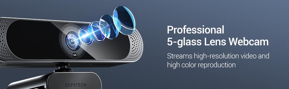 5 GLASS LENS WEBCAM