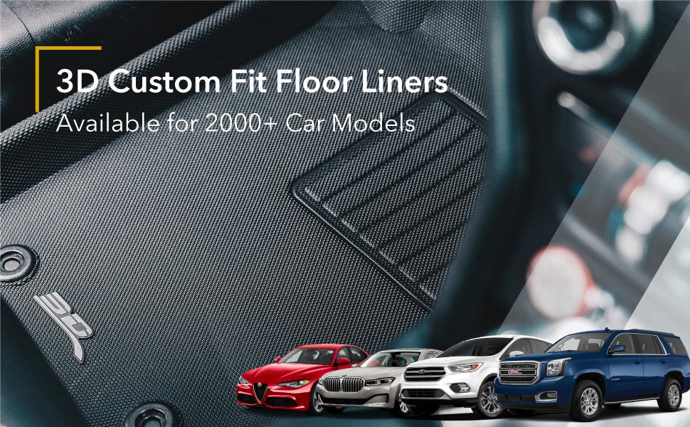 3D MAXpider Custom Fit All Weather Floor Mats Liners