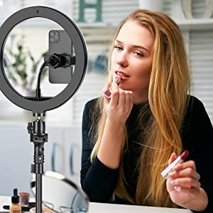 Recording Make-up Tutorial with Ring Light