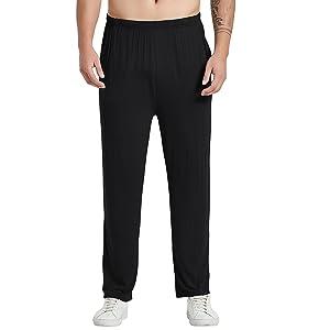 black pyjama pants mens