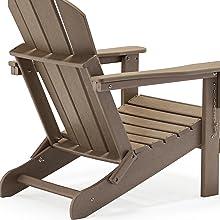 weathered wood adirondack chair