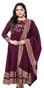 Pure Rayon Kurta Dupatta Ethnic set for women