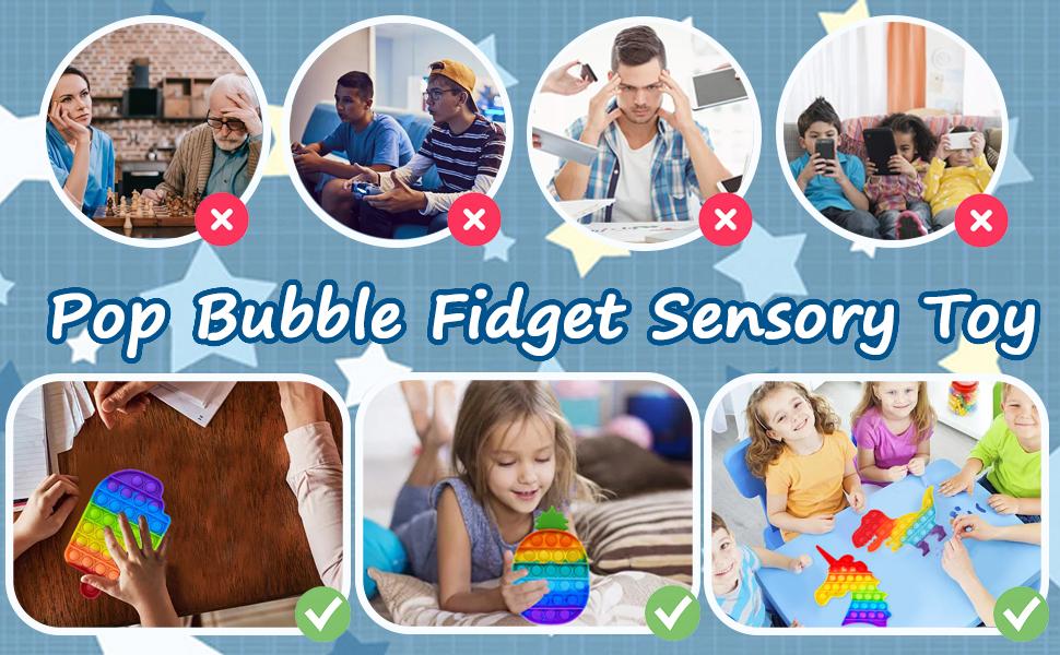 4pcs pop bubble fidget toy