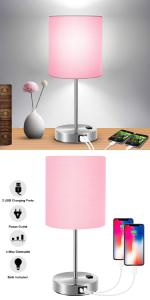 usb lamp dimmable lamp touch lamp touch table lamp nightstand lamp with usb ports and powet outlet