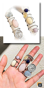 Vintage Crystal Knuckle Gold Rings