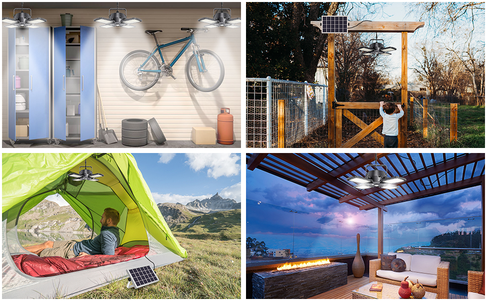 Various applicable scenarios: garage/backyard/tent/patio