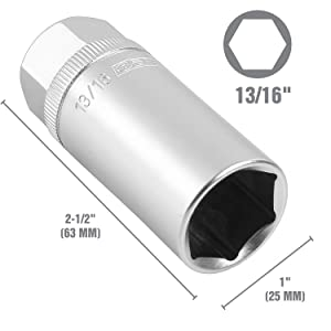 magnetic socket set; magnetic spark plug socket set; spark plug removal tool; oem tools