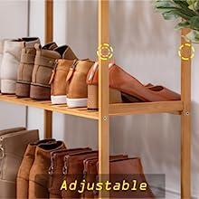 adjustable bamboo shoes shelves