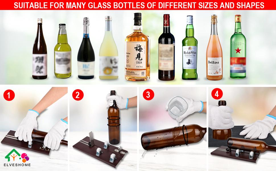 Steps for Cutting Glasses Bottles