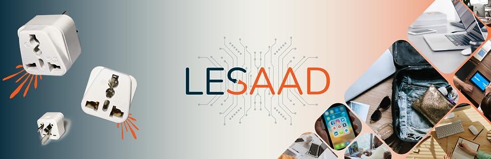 LESAAD International Travel Adapter brand banner
