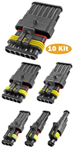 20-16 AWG Waterproof Electrical Automotive Wire Connector