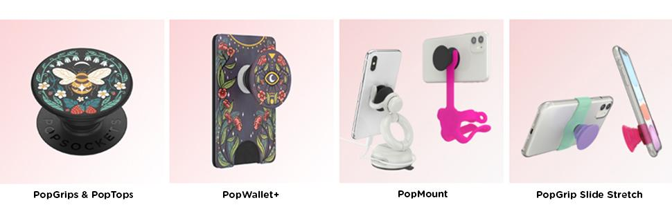 Popsockets product family with different products