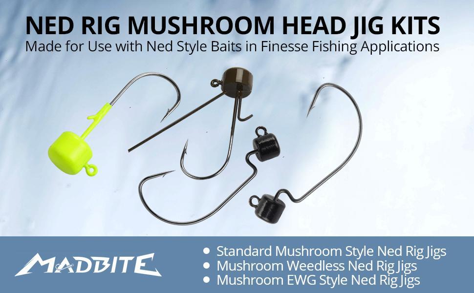 Ned Rig Mushroom Head Jig Kits