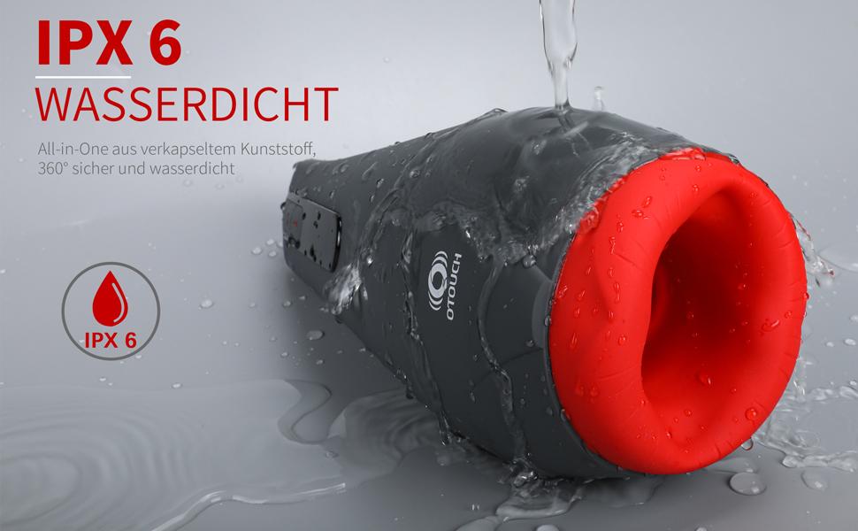 IPX6 WASSERDICHT: All-in-One aus verkapseltem Kunststoff, 360° sicher und wasserdicht