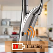 Touchless Kitchen Faucet with Pull Down Sprayer, Motion Sensor Activated Hands-free Kitchen Faucet