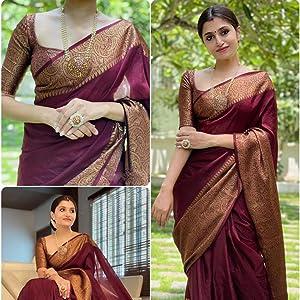 Soft Litchi Silk Saree