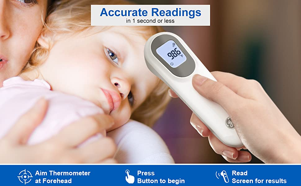 GE Smart Non-Touch Contactless Thermometer