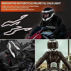 motorcycle helmet warning light night riding