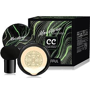 Mushroom Head Moisturizing Foundation,Air Cushion CC Cream Mushroom Head,Concealer Lasting Makeup