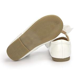 non-slip soft rubber Mary Jane