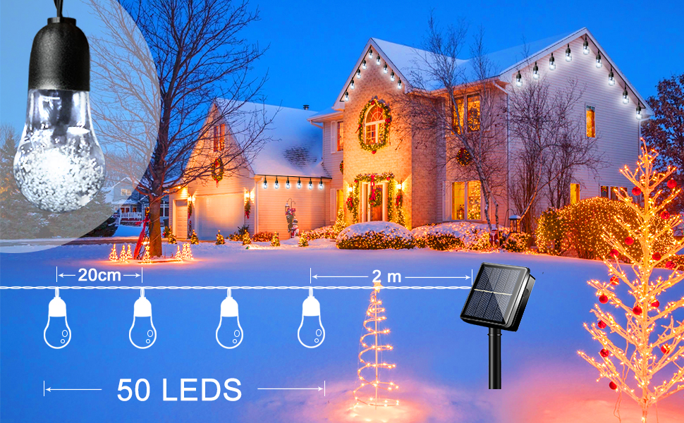 LiyuanQ Solar Outdoor String Lights
