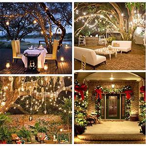 Christmas String Lights 33ft 100 LED Indoor amp; Outdoor String Lights for Halloween, Christmas Tree