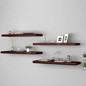 wooden wood wall shelf shelves mount mounts for decoration decor bedroom hall home rack racks