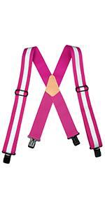 Reflective Safety Suspenders Work Suspenders with Hi Viz Reflective Strip