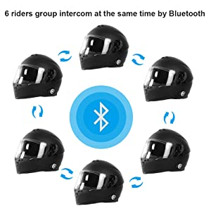 group intercom bluetooth helmets for adults motorcycle