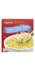 Lipton Soup Secrets Instant Soup Mix For a Warm Cup of Soup Chicken Flavor Noodle