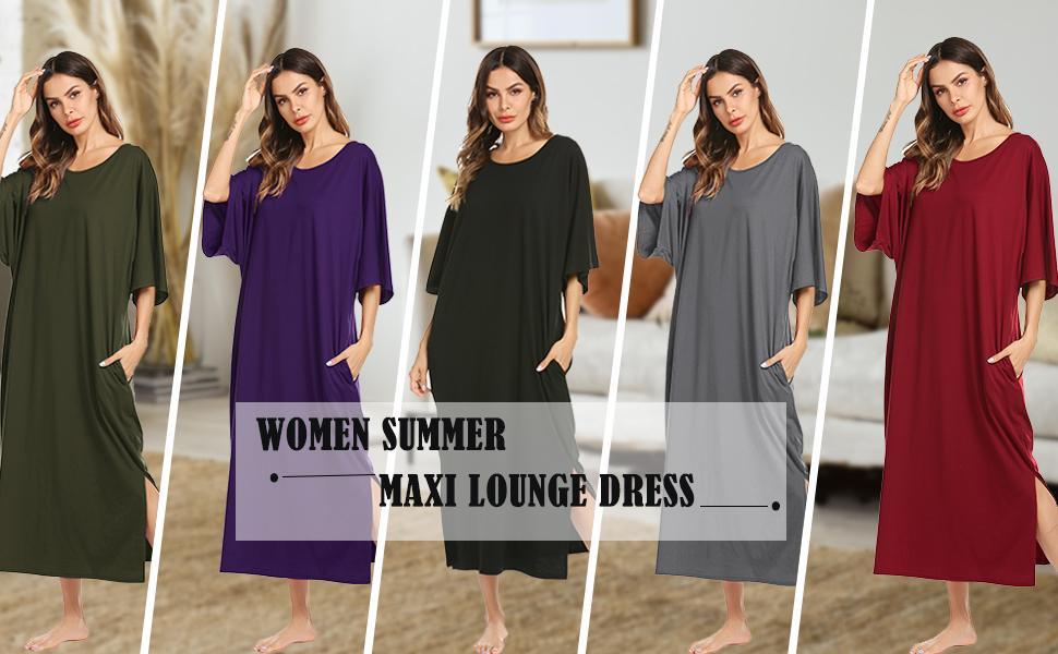 maxi long nightgown
