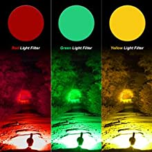 three-color hunting red green yellow spotlight