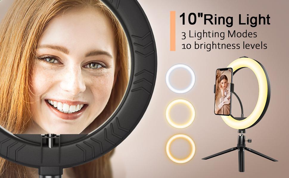 10'' ring light