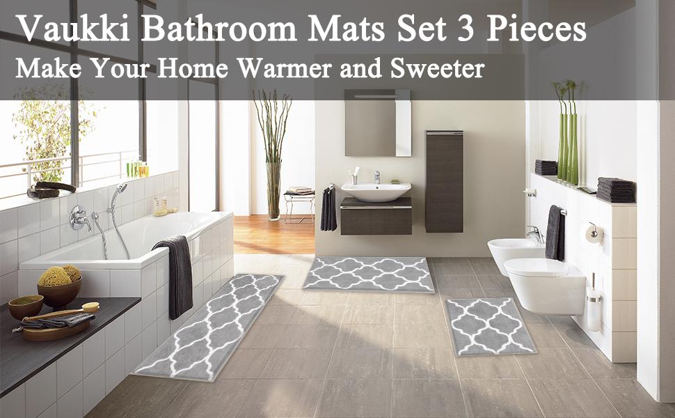 bathroom mats set of 3