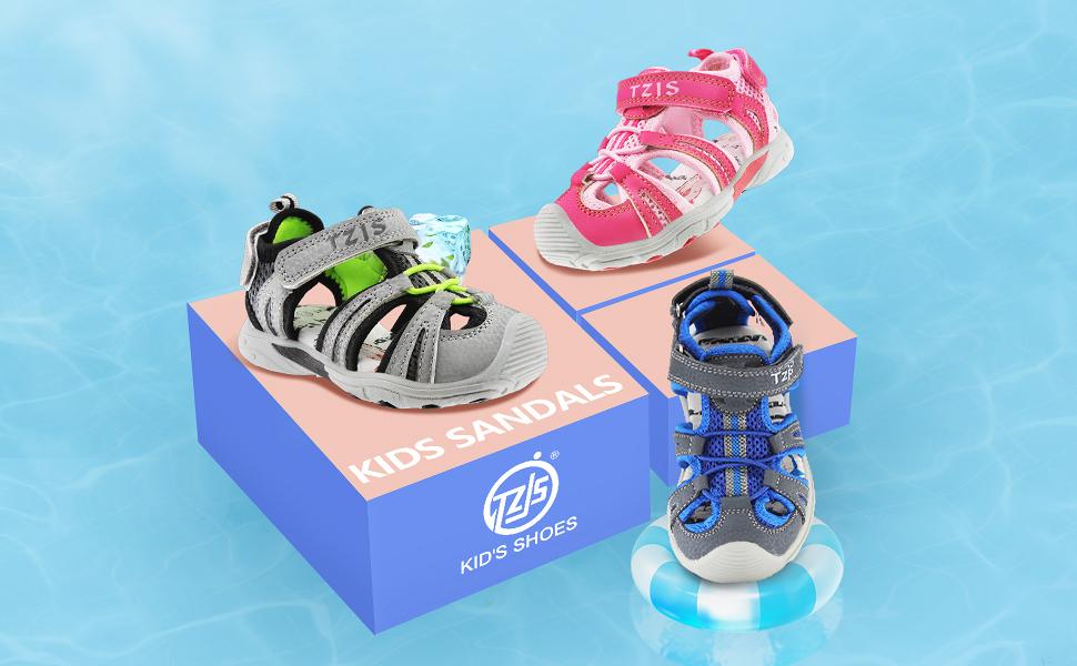 kids closed toe sandals