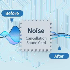 usb headset with noise cancellation sound card