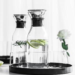 Borosilicate Glass Carafe with Drip-Free Lid