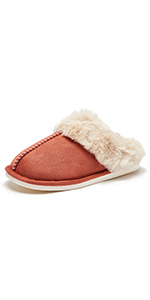 Slip on Fuzzy House Slippers for Women Men with Memory Foam Warm Cozy Bedroom Home Shoes