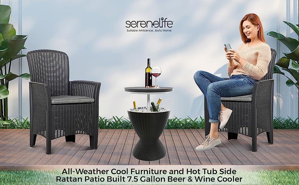 Outdoor Bar Cooler Table, Bar Cooler Table,  Cooler Table, Patio  Cooler Table, Patio Cool bar Table