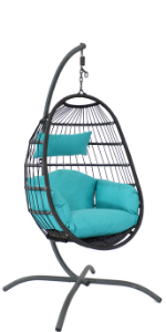 Penelope Hanging Egg Chair with Stand