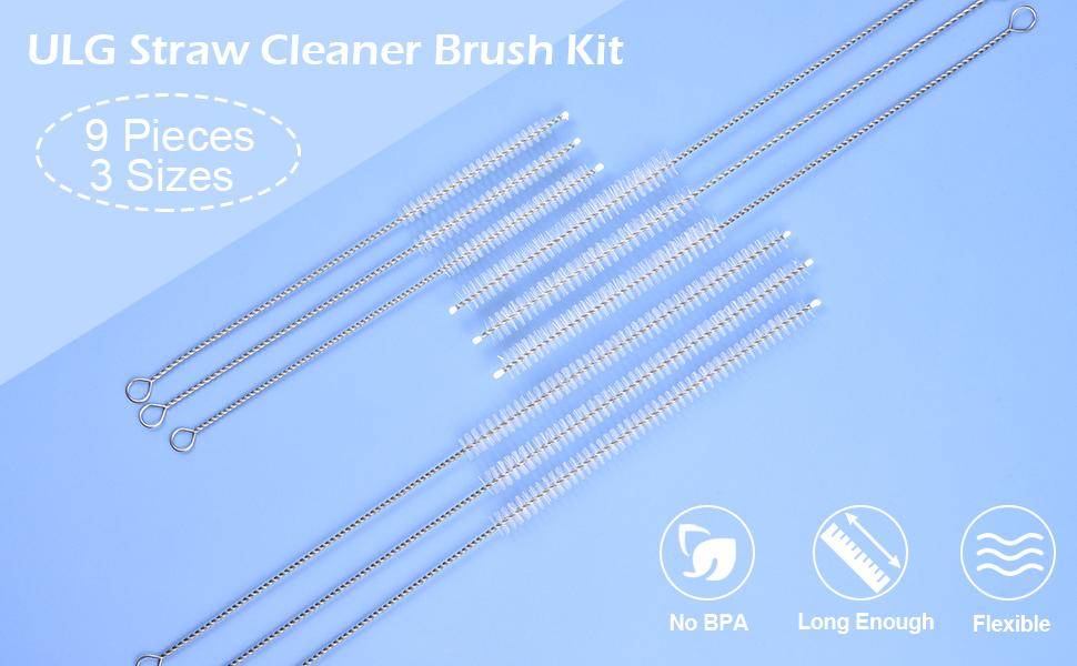 ULG Straw Cleaner Brush Long Drinking Straw Cleaning Brush