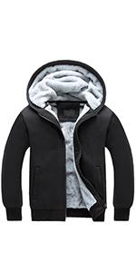 Womens Warm Thick Sherpa Fleece Lined Hooded Sweatshirt Jacket