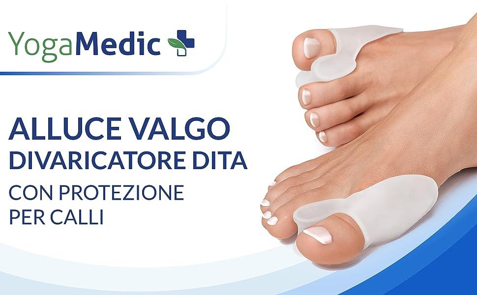 tutore alluce valgo correttore trasparente separatore dita piede supporti per i piedi yogamedic