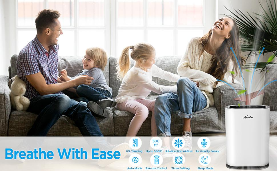 air purifier remote control huge coverage quality sensor auto mode sleep timer large room