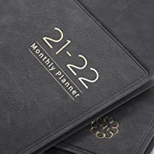 academic monthly planner 2021-2022